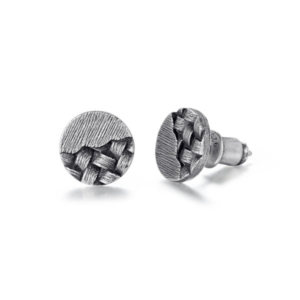 Men's Ear Studs Woven Circle