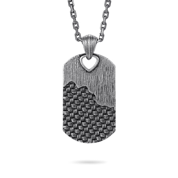 Dog Tag Necklace with Woven
