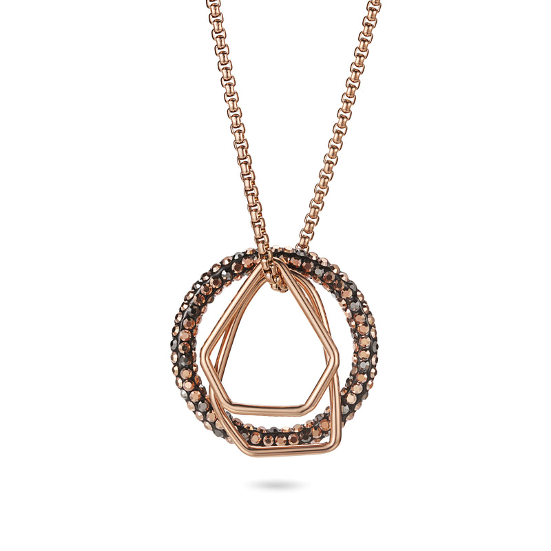 Women Pendant Necklace Geometric Hoop