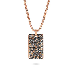 Women Pendant Necklace Crystal Tag