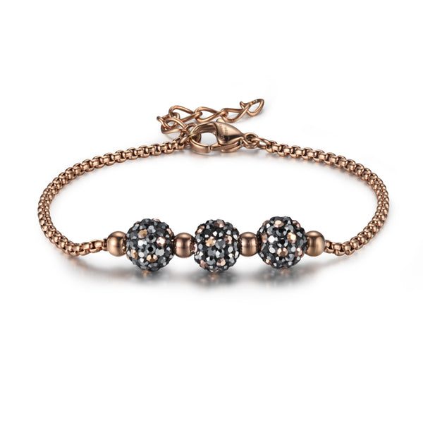 Women Chain Bracelet Crystal Beads