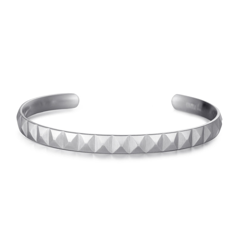 Stainless Steel Pyramid Bangle