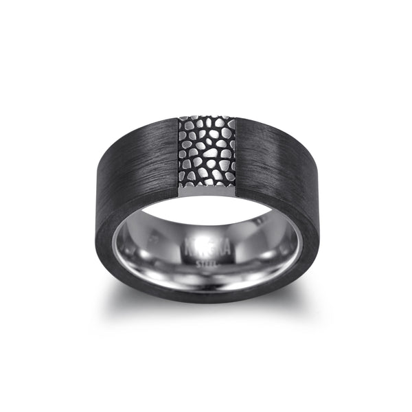 Men's Band Ring Carbon - KINGKA Jewelry