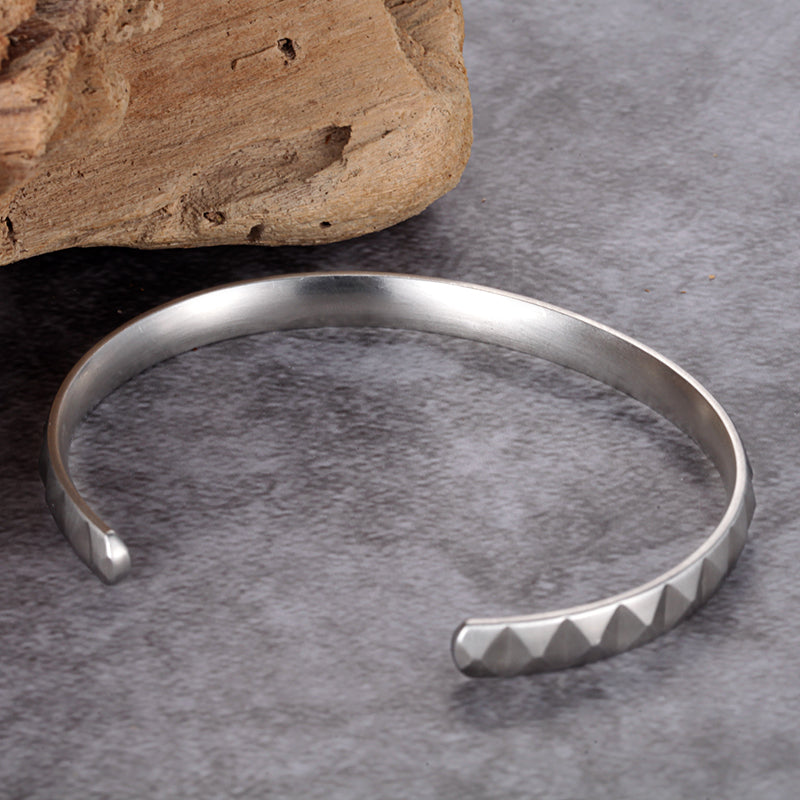 Unisex Open Design Stainless Steel Bangle