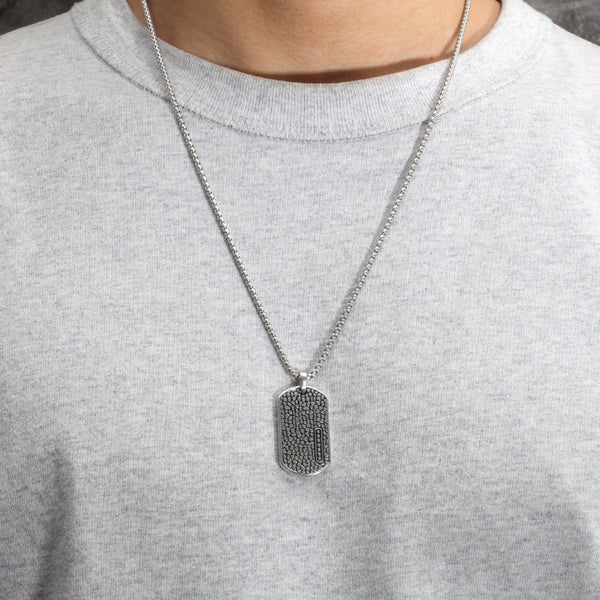 Unique Stainless Steel Dog Tag Necklace Chain for Mens