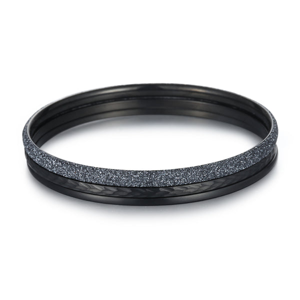 Women Stacking Bangles Grey Glitter Dust