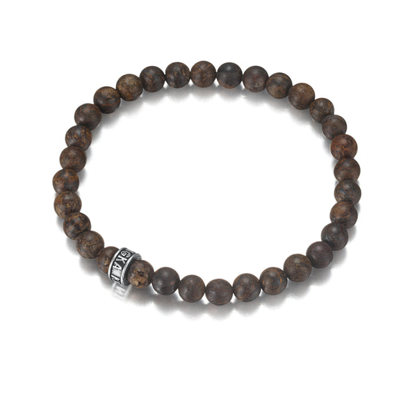 Black Mens Womens Onyx Bronzite Bracelet Beaded Jewelry