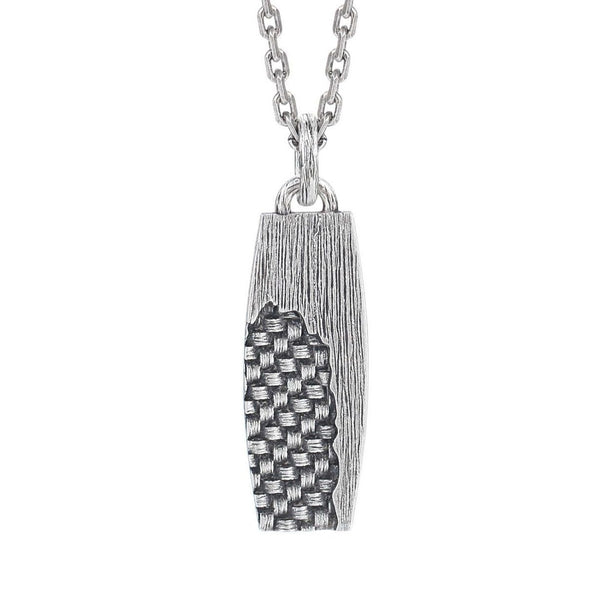 Thin Tag Necklace with Woven - KINGKA Jewelry