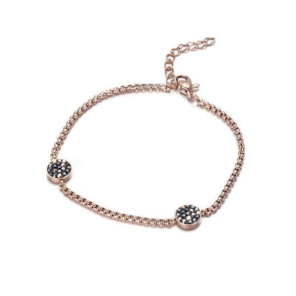 Women Stainless Steel Honey Comb Bracelet