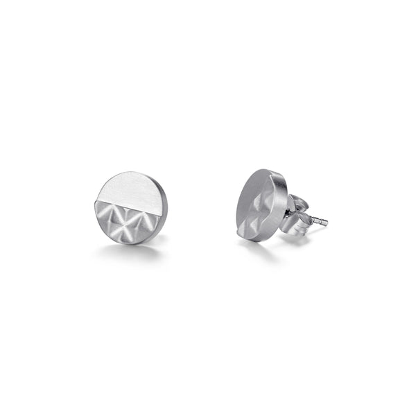 Stainless Steel Pyramid Circle Ear Studs