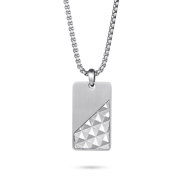 Men's Tag Necklace Pyramid - KINGKA Jewelry