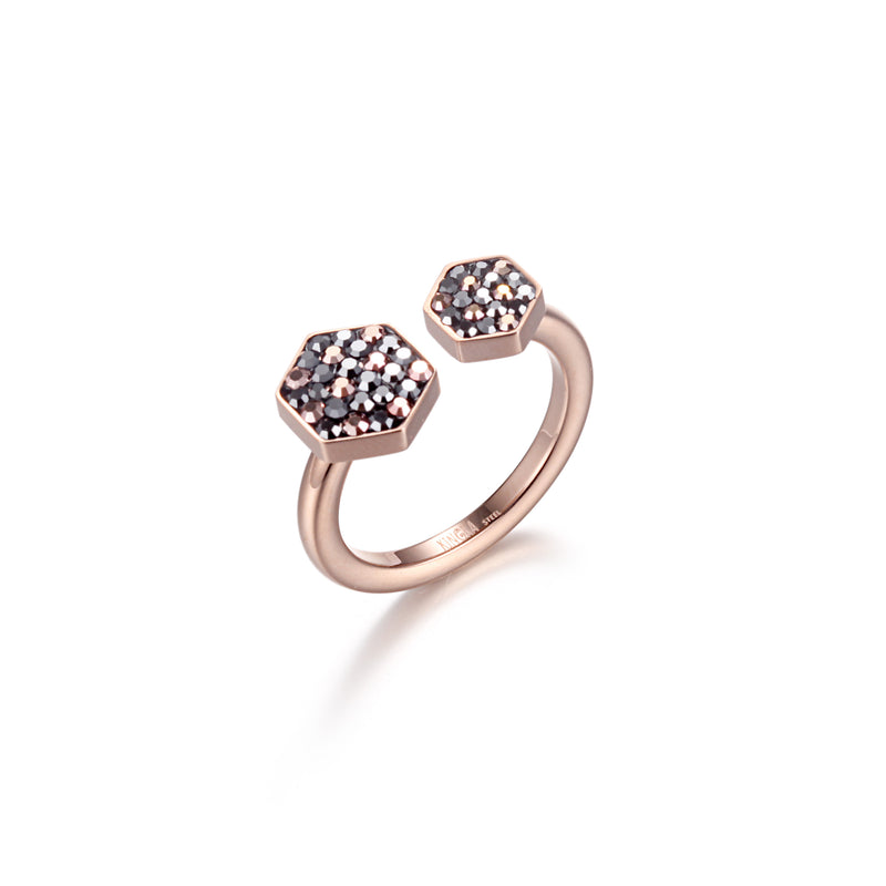 Women Stainless Steel Honey Comb Ring