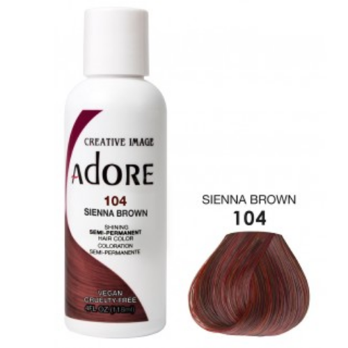 Adore Semi-Permanent Hair Colour - Sienna Brown 104