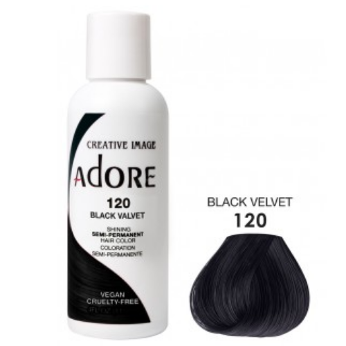 Adore Semi-Permanent Hair Colour - Black Velvet 120