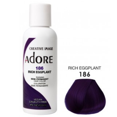 Adore Semi-Permanent Hair Colour - Rich Eggplant 186
