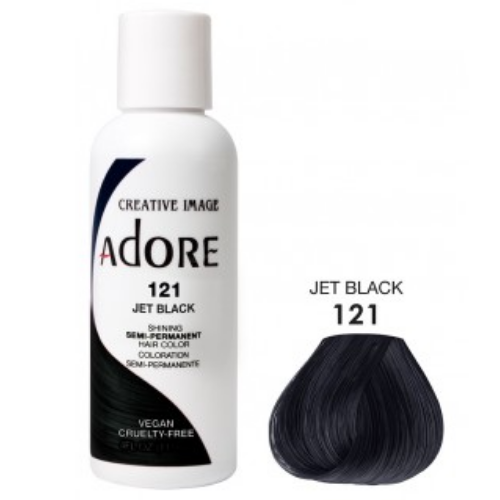 Adore Semi-Permanent Hair Colour - Jet Black 121