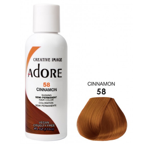 Adore Semi-Permanent Hair Colour - Cinnamon 58