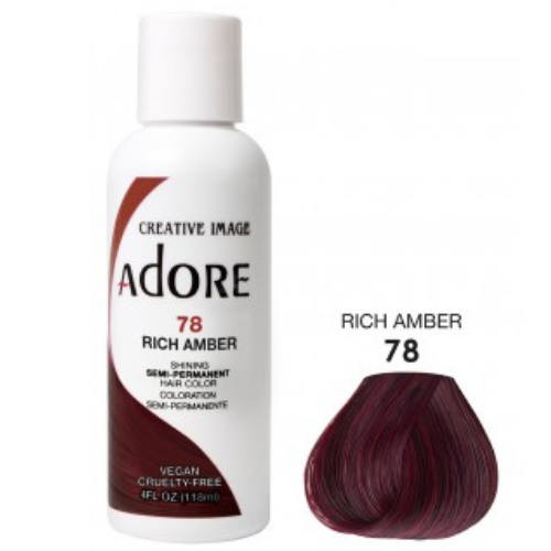Adore Semi-Permanent Hair Colour - Rich Amber 78