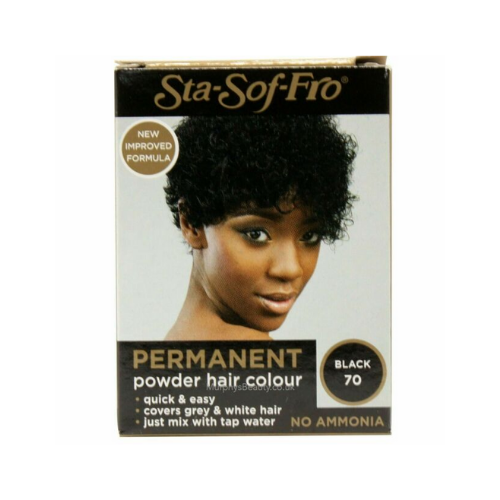 Sta-Sof-Fro Permanent Powder Hair Colour 8g - Black (70)
