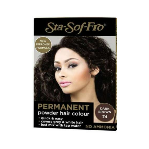 Sta-Sof-Fro Permanent Powder Hair Colour 8g - Dark Brown (74)