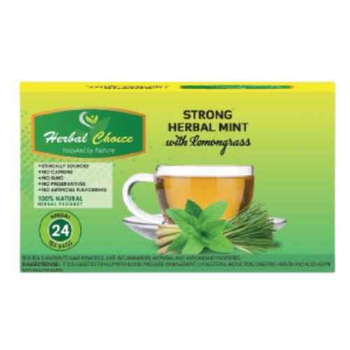 Herbal Choice Strong Herbal Mint with Lemongrass 48g - 24 Tea Bags