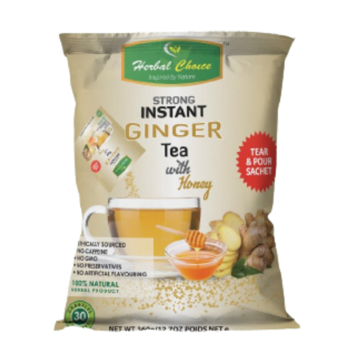 Herbal Choice Strong Instant Ginger Drink with Honey 360g - 30 Sachets