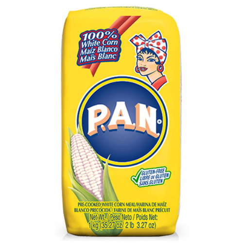 Harina PAN Pre-Cooked White Maize Meal 1kg