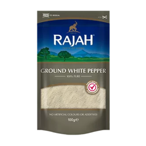 Rajah Ground White Pepper 100g