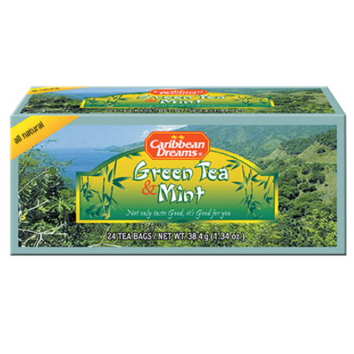 Caribbean Dreams Green Tea & Mint - 24 Teabags