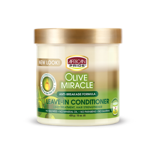 African Pride olive Miracle Leave-In Conditioner 15oz