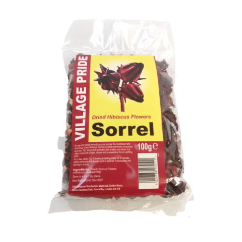 Village Pride Dried Hibiscus Flower Sorrel 100g
