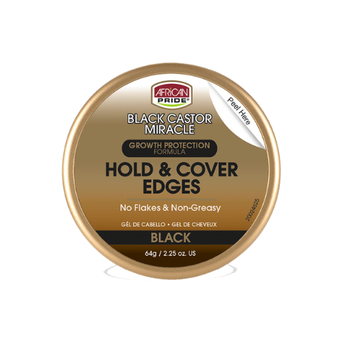 African Pride Black Castor Miracle Hold & Cover Edges 2.25 oz