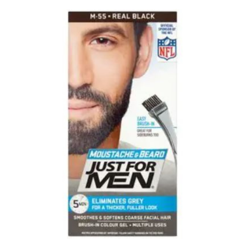 Just for Men Moustache & Beard Gel - Real Black H-55