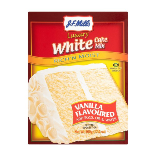 J.F. Mills Luxury White Cake Mix 500g