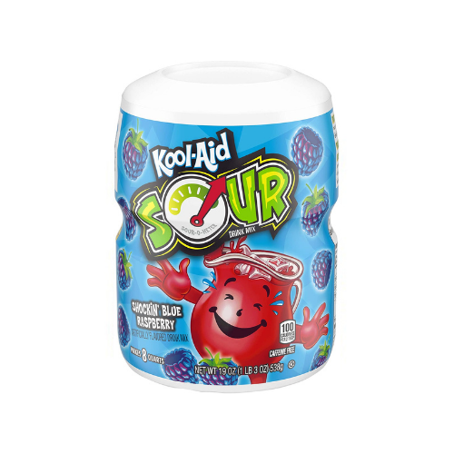 Kool-Aid Sour Drink Mix - Shockin Blue Raspberry 19oz