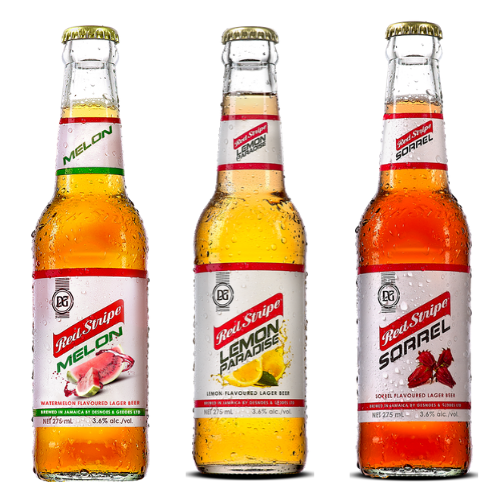 Flavoured Red Stripe Jamaican Beer 275ml
