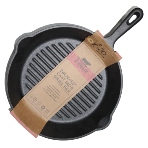 Cast Iron Grill Pan 24cm