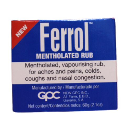 Ferrol Mentholated Rub 60g