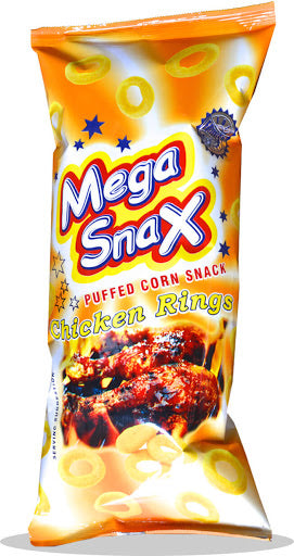 Mega Snax Puffed Chicken Rings 100g