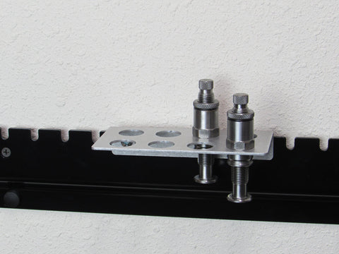 Rack for Hornady powder measure powder metering insert & MEC powder bushings