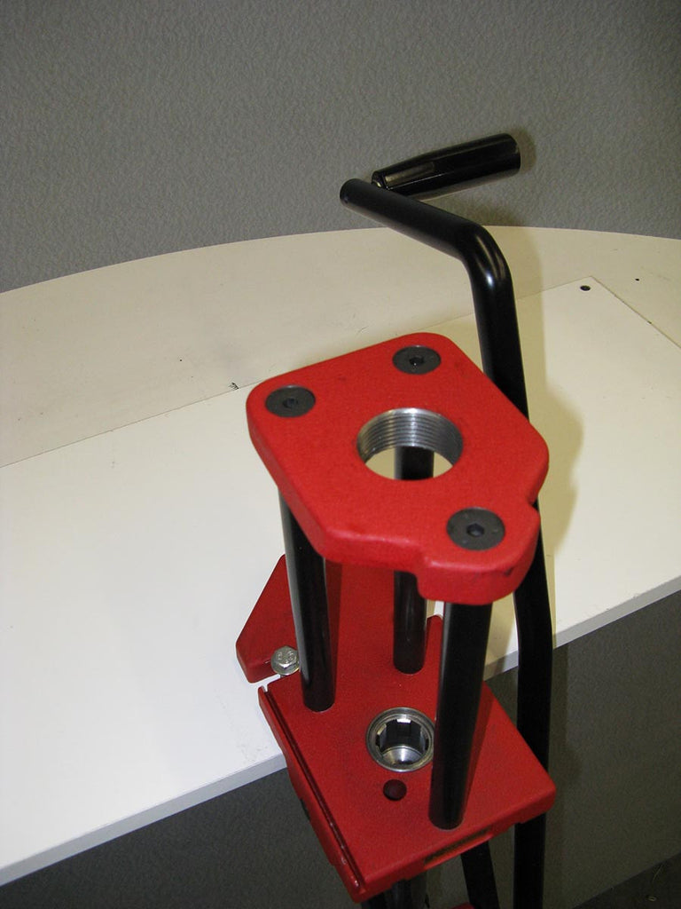 ERGO roller lever for the Hornady .50 BMG reloading press.