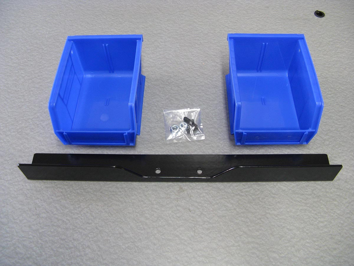 Dual bin and bracket set for Dillon square deal B  - Inline Fabrication