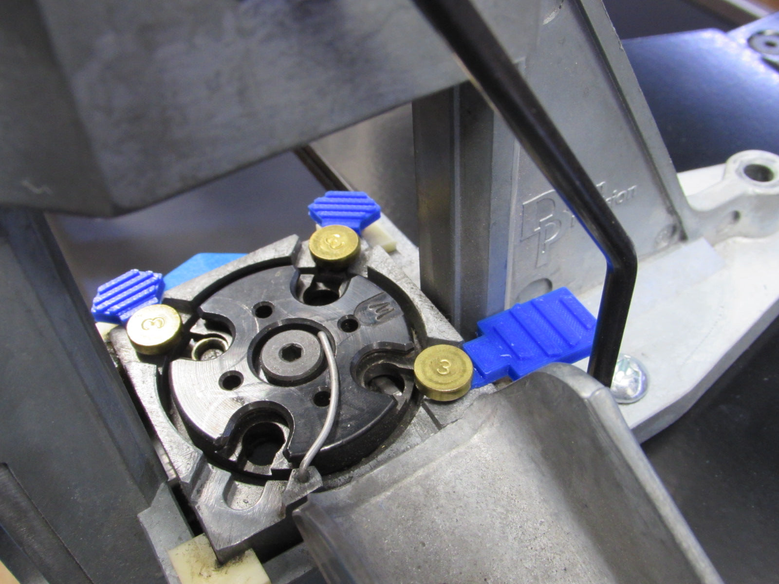 Locator pin tabs for Dillon Square deal press - Inline Fabrication