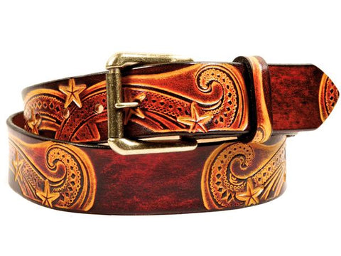 Handmade Tooled Leather Belts