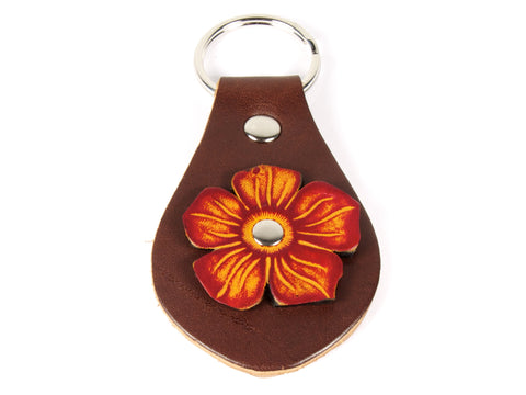"Handmade ""Flora"" Leather Key Chain"