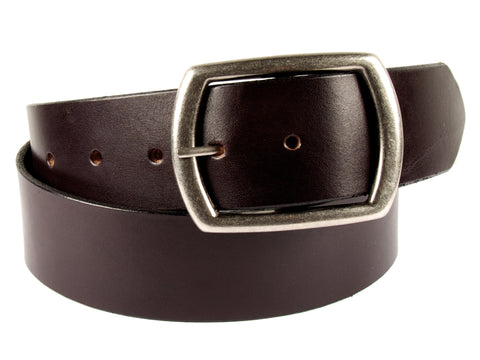 "Handmade Leather Belt-""Chocolate Brown Latigo"" (1.75"")"
