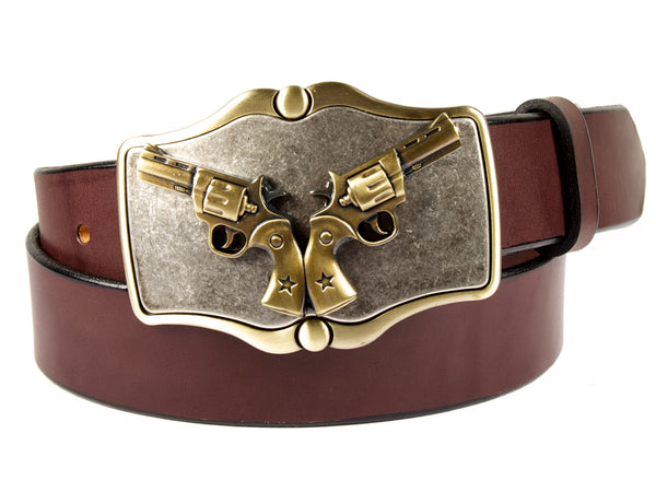 """Young Guns"" Theme Buckle/ Belt Combination"