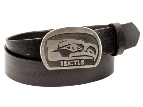 "Handmade ""Seahawks"" Theme Buckle/Belt Combination"