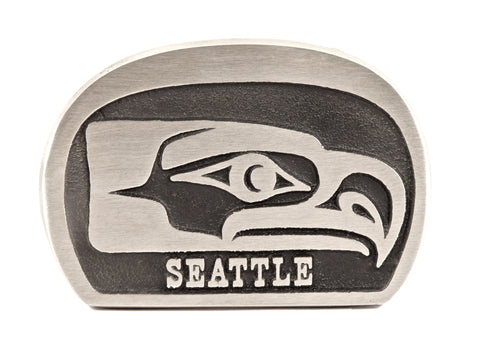 "Handmade ""Seahawks"" Theme Belt Buckle"