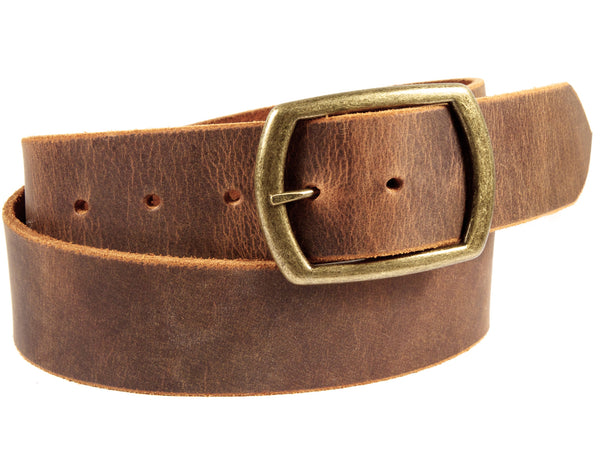 "Handmade Leather Belt-""Sandstone Pull-Up"" (1.75'')"